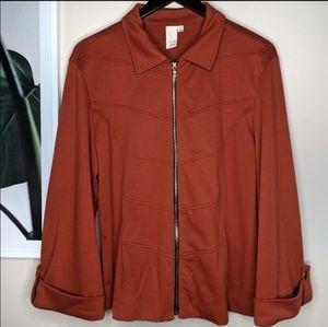 🌴 Lavender & Honey Rust Orange Full Zip Jacket
